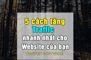 5 cách tăng Traffic nhanh nhất cho Website của bạn