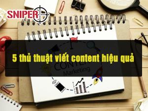 5 thủ thuật viết content hiệu quả