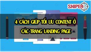 4 Cách giúp tối ưu content ở các trang Landing page